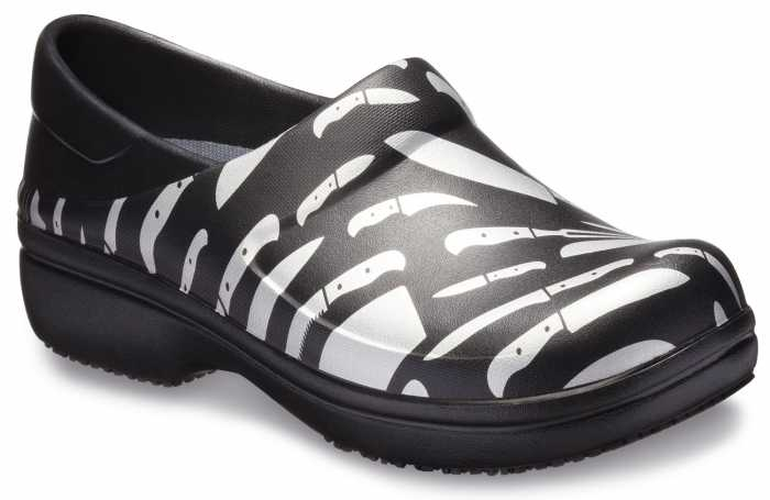 Crocs CRNERIA01V Women's, Black/White, Soft Toe, Slip Resistant Clog