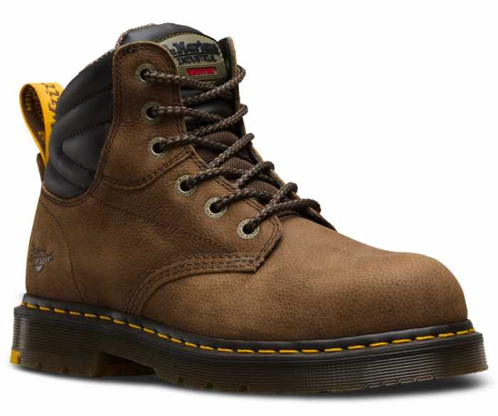 Dr. Martens DMR21725203 Hynine Unisex, Brown, Steel Toe, EH, 6 Inch Boot