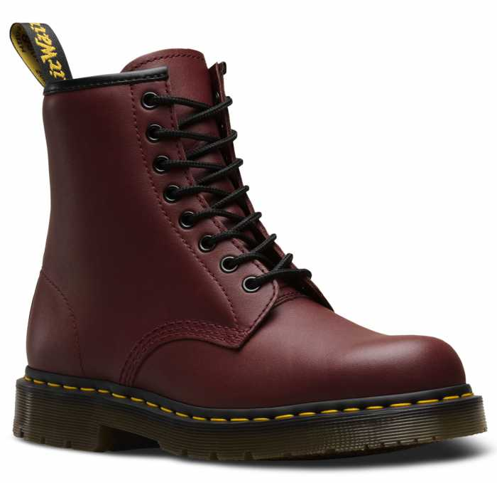 Dr. Martens DMR24382600 Unisex, Red Cherry, EH, Slip Resistant, 6 Inch Boot
