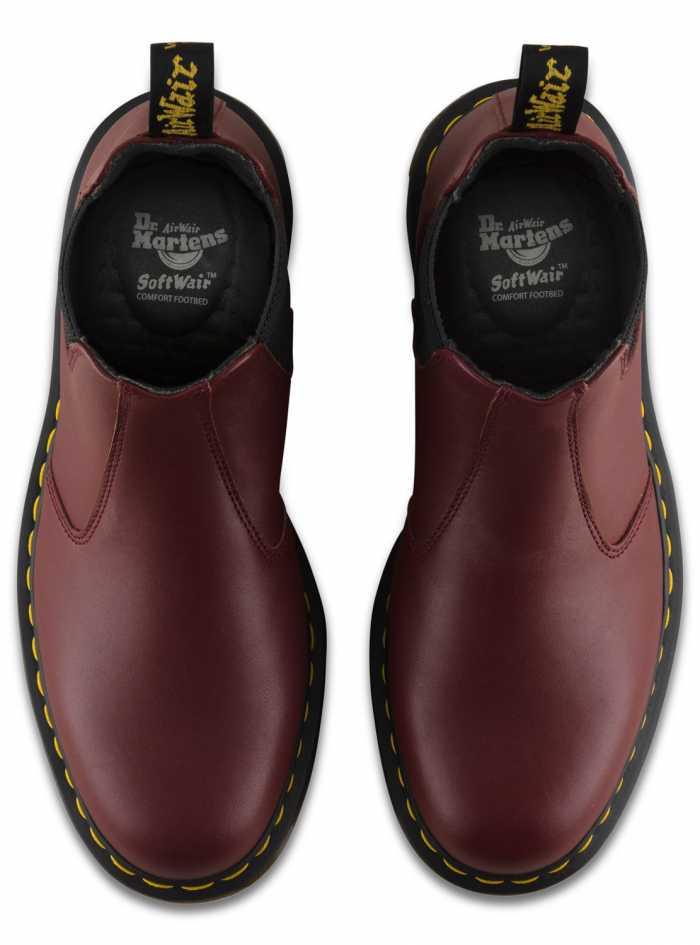 Dr. Martens DMR24383600 2976 Originals Chelsea, Unisex, Red, Twin Gore, Slip Resistant Boot