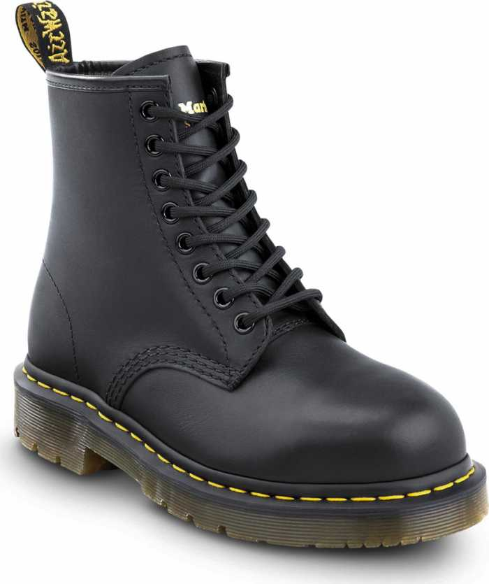Dr. Martens DMR26307001 1460 Originals 8-Eye Lace Up, Unisex, Black, Steel Toe, EH, 6 Inch Boot