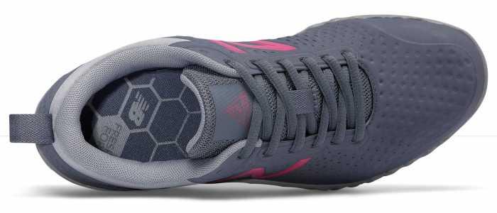 New Balance NBWID806G1 Fresh Foam, Women's, Grey/Pink, Soft Toe Athletic