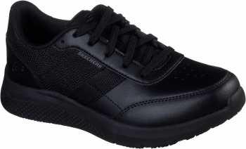 SKECHERS Work SK108001BLK Elloree-Bluffton, Women's, Black, Soft Toe, Slip Resistant Athletic