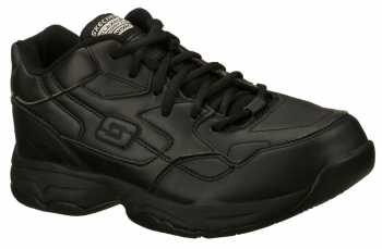 Skechers SK76555BLK Felton-Albie SR, Women's Black, Slip Resistant, Low Athletic