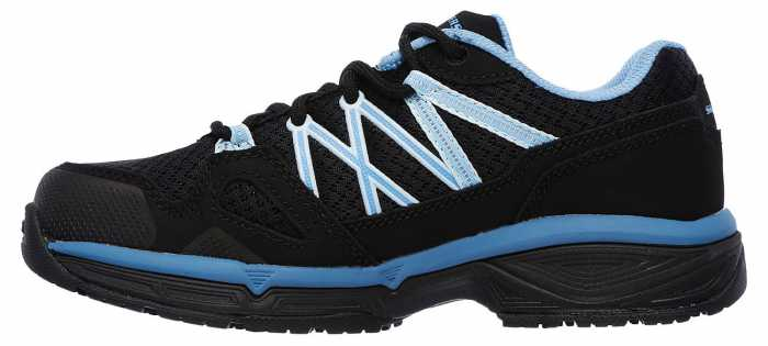 SKECHERS Work Conroe Abbenes, Women's, Black/Blue, Soft Toe, SD Athletic