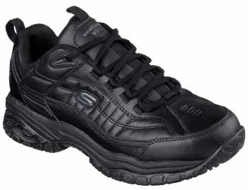 SKECHERS Work SK76759BLK Soft Stride-Galley, Men's, Black, Soft Toe, Slip Resistant Athletic