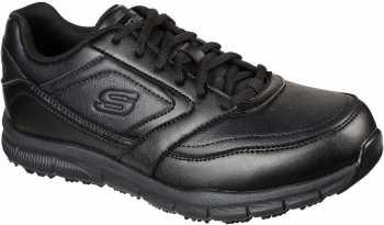 SKECHERS Work SK77156BLK Nampa, Men's, Black, Soft Toe, EH, Slip Resistant Athletic