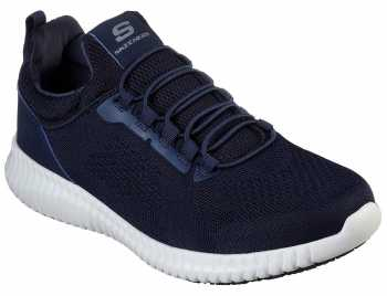 Skechers SK77188BLK Cessnock, Men's, Navy, Soft Toe, EH, Slip Resistant Casual