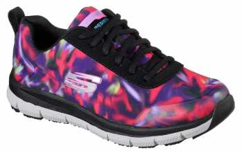 Skechers Work SK77217BKMT Black/Multi Comfort Flex Pro HC Soft Toe, Slip Resistant Women's Athletic