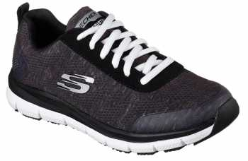 Skechers Work SK77217BKW Black/White Comfort Flex Pro HC Soft Toe, Slip Resistant Women's Athletic