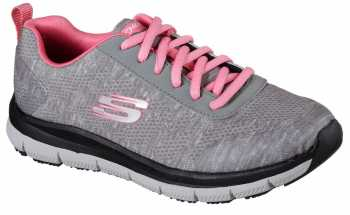 Skechers Work SK77217GYPK Gray/Pink Comfort Flex Pro HC Soft Toe, Slip Resistant Women's Athletic