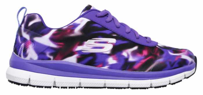 Skechers Work SK77217PRMT Purple/Multi Comfort Flex Pro HC Soft Toe, Slip Resistant Women's Athletic