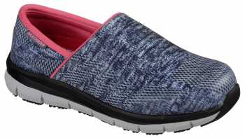 Skechers SK77239BLGY Comfort Flex Pro, Women's, Blue/Gray, Soft Toe Slip On