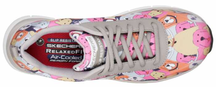 SKECHERS Work SK77248GMLT Comfort Flex Waggey, Women's, Soft Toe, EH, Slip Resistant Casual
