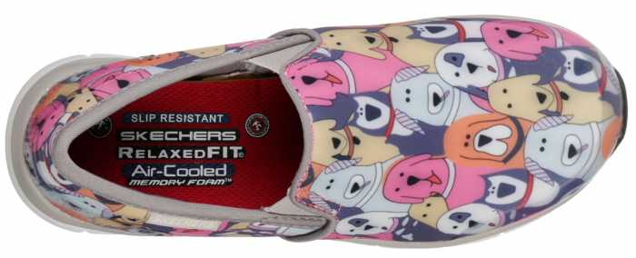 SKECHERS Work SK77256GMLT Comfort Flex Kaldog, Women's, Soft Toe, EH, Slip Resistant Casual
