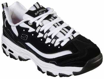 Skechers SK77263BKW D'Lites, Women's, Black/White, Soft Toe Athletic