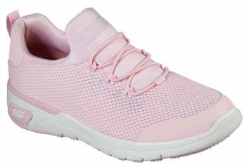 Skechers SK77821LTPK Marsing-Waiola, Women's, Light Pink/White, Soft Toe, Slip Resistant Athletic