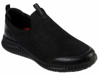 Skechers SK77501BLK Cessnock-Colleton, Men's, Black, Soft Toe, EH, Slip Resistant Casual