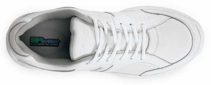 SR Max SRM1540 Seattle Men's White Slip Resistant Low Athletic