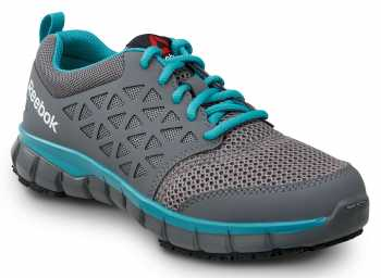 Reebok SRB030 Sublite, Women's, Grey/Turquoise, Soft Toe, Slip Resistant Athletic
