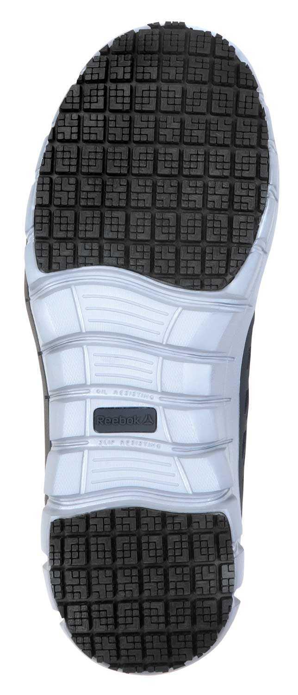 Reebok SRB033 Sublite Cushion Work, Black/Gray, Women's, Slip Resistant Athletic