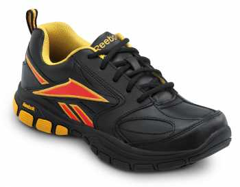 Reebok SRB131 Franklin Black/Yellow, Soft Toe, SR, Women's Senexis MaxTrax Athletic