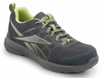 Reebok SRB1501 Grey/Yellow, Soft Toe, Vegan, Slip Resistant Beamer MaxTrax Athletic