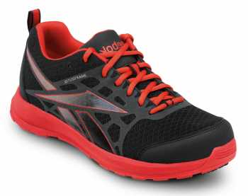 Reebok SRB1504 Black/Salmon, Soft Toe, SR, Men's Beamer MaxTrax Athletic