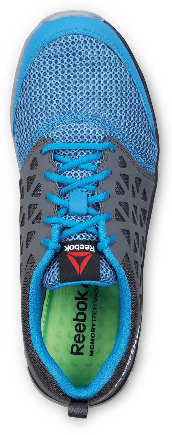 Reebok SRB3200 Sublite Cushion Work, Sky Blue/Dark Grey, Men's, Slip Resistant Athletic