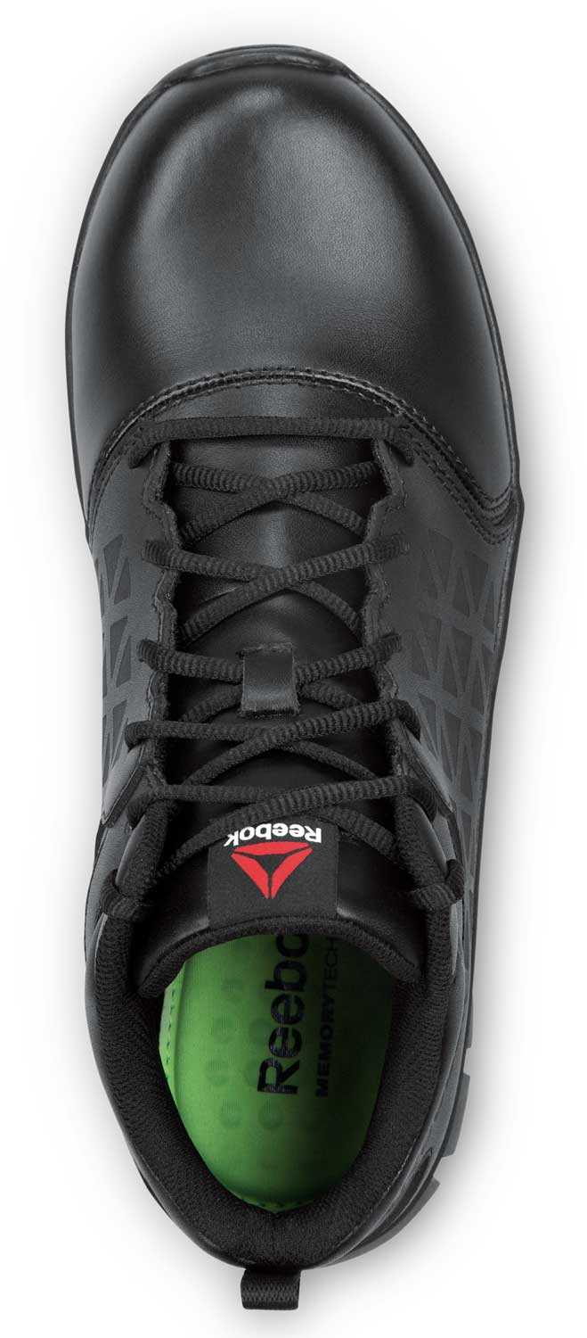 Reebok Work SRB3204 Sublite Cushion Work, Black, Men's, Mid-Athletic Style Slip Resistant Soft Toe Work Shoe