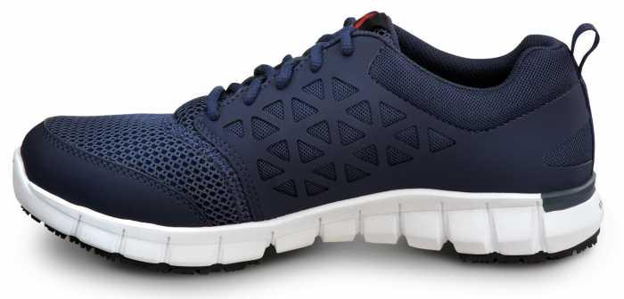 Reebok SRB3205 Sublite, Men's, Navy, Soft Toe, Slip Resistant Athletic