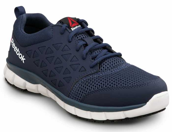 Reebok SRB3205 Sublite, Men's, Navy, Soft Toe, Slip Resistant Athletic