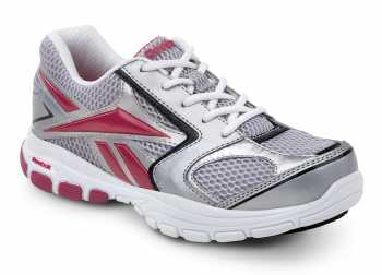 Reebok SRB405 Gray/Pink Soft Toe, Slip Resistant, Womens Senexis MaxTrax Sneaker