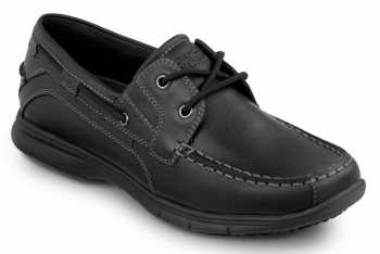 Rockport SRK2220 Men's Hampton Black, Soft Toe, Slip Resistant, Boat Shoe