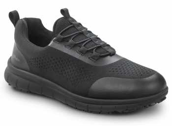 SR Max SRM1560 Anniston, Men's, Black, Slip On Athletic Style Slip Resistant, EH, Soft Toe Work Shoe
