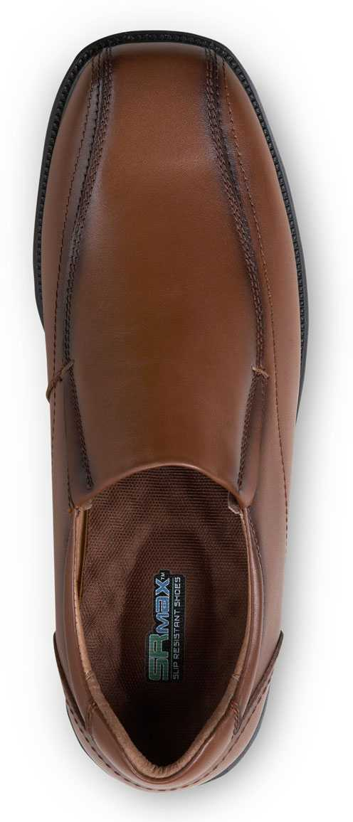 SR Max SRM3090 Brooklyn Men's Brown, Twin Gore, Soft Toe, Slip Resistant Slip On