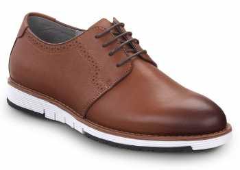 SR Max SRM3350 Beaufort, Men's, Brown/White, Soft Toe Slip Resistant Work Shoe