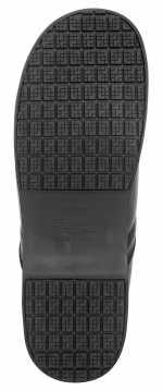 SR Max SRM340 Chicago Women's Slip Resistant Black Leather Clog