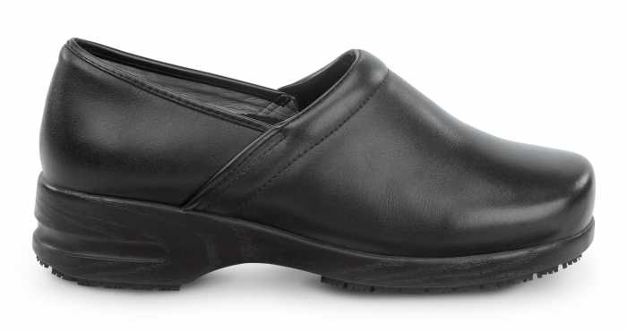 SR Max SRM340 Chicago Women's Slip Resistant Black Leather Clog