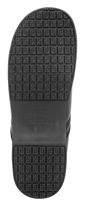 SR Max SRM3400 Chicago Men's Slip Resistant Black Leather Clog