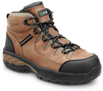 SR Max SRM4760 Winston, Men's, Brown, Hiker Style Comp Toe EH, Slip Resistant Work Shoe