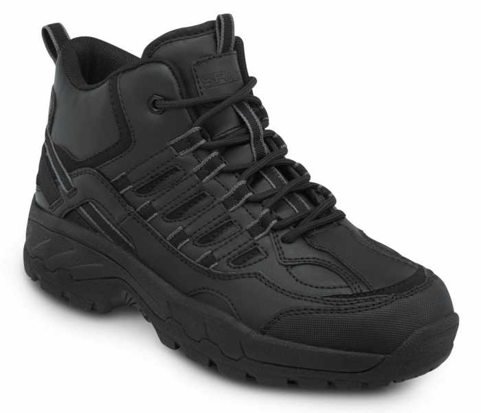 SR Max SRM4800 Carbondale, Men's, Black, Hi Top Athletic Style Soft Toe Slip Resistant Work Shoe
