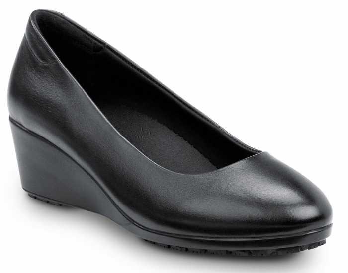 SR Max SRM555 Orlando, Women's, Black Dress High Wedge Style Soft Toe Slip Resistant Work Shoe