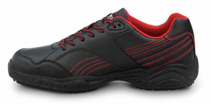 SR Max SRM6110 Corbin, Men's, Black/Red Athletic Style Soft Toe Slip Resistant Work Shoe