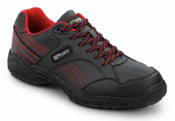 SR Max SRM6110 Corbin Men's, Black/Red, Soft Toe, Slip Resistant Athletic