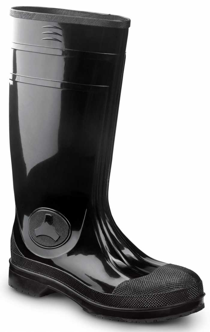 SR Max SRM8200 Seward, Unisex, Black, Steel Toe, EH, Waterproof, Slip Resistant 16 Inch PVC Work Boot
