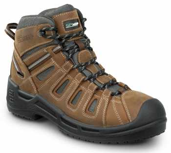 SR Max SRM9170 Concord, Men's, Brown, Hiker Style, Comp Toe, EH, Waterproof, Slip Resistant Work Boot