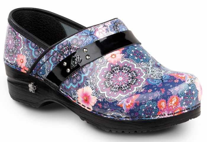 Sanita SSA0706M Floral Paisley, Women's, Multi Color, Soft Toe, Slip Resistant Clog