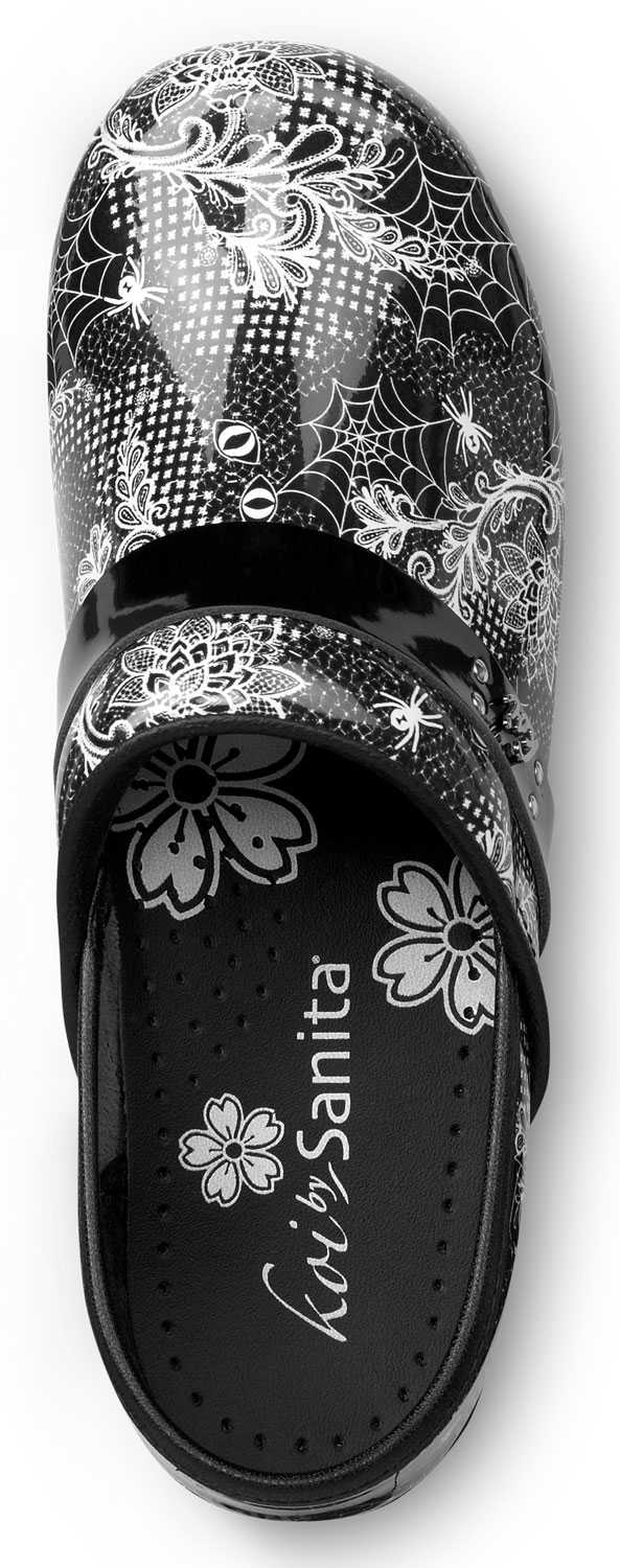 Sanita SSA0736B Samantha, Women's, Black/White, Soft Toe, Slip Resistant Clog