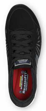 Skechers SSK405BKW Stacey Black/White, Soft Toe, Slip Resistant, Low Athletic